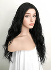 Black Wavy Lace Front Synthetic Wig LFK5511