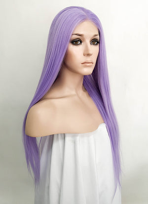 Light Purple Straight Lace Front Synthetic Wig LFK5522