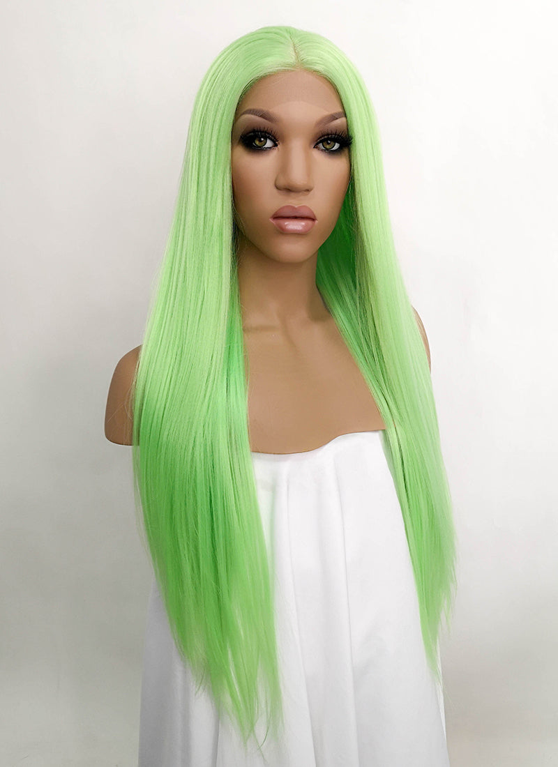 Light Green Straight Lace Front Synthetic Wig LFB5518