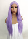 Light Purple Straight Lace Front Synthetic Wig LFKB5522