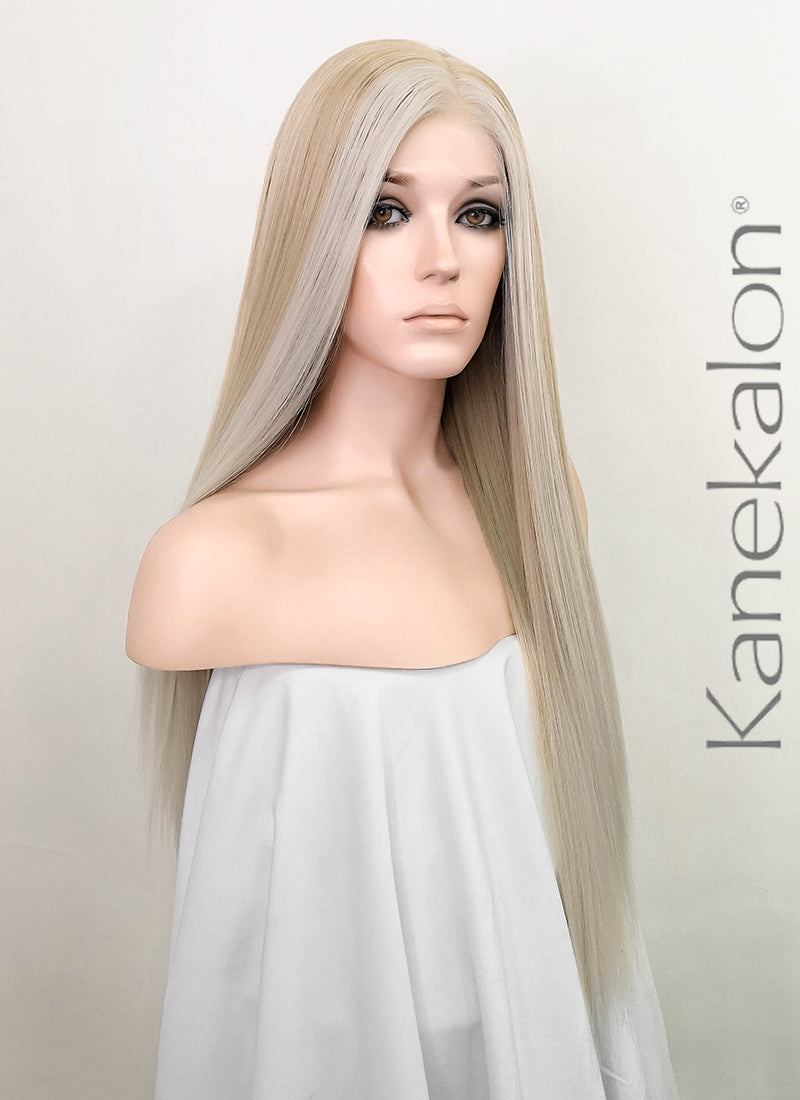 Pastel Blonde Grey Ombre Straight 13