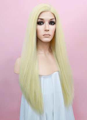 Light Blonde Wavy Lace Front Synthetic Wig LN6000A