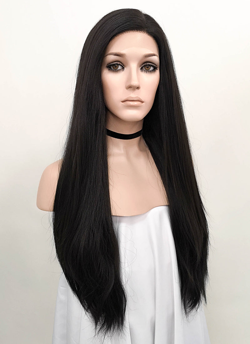 Black Wavy Lace Front Synthetic Wig LN6000B
