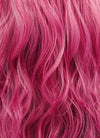 Pink Wavy Lace Front Synthetic Wig LN6004 - Wig Is Fashion Australia