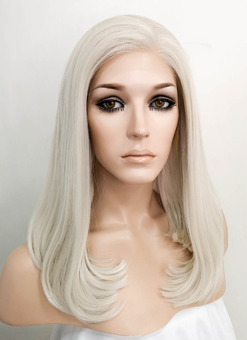 Pastel Blonde Straight Bob Lace Front Synthetic Wig LNK001 - Wig Is Fashion Australia