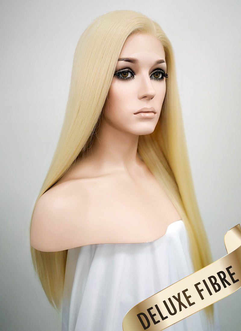 Blonde Straight Lace Front Synthetic Wig LNK003 - Wig Is Fashion Australia
