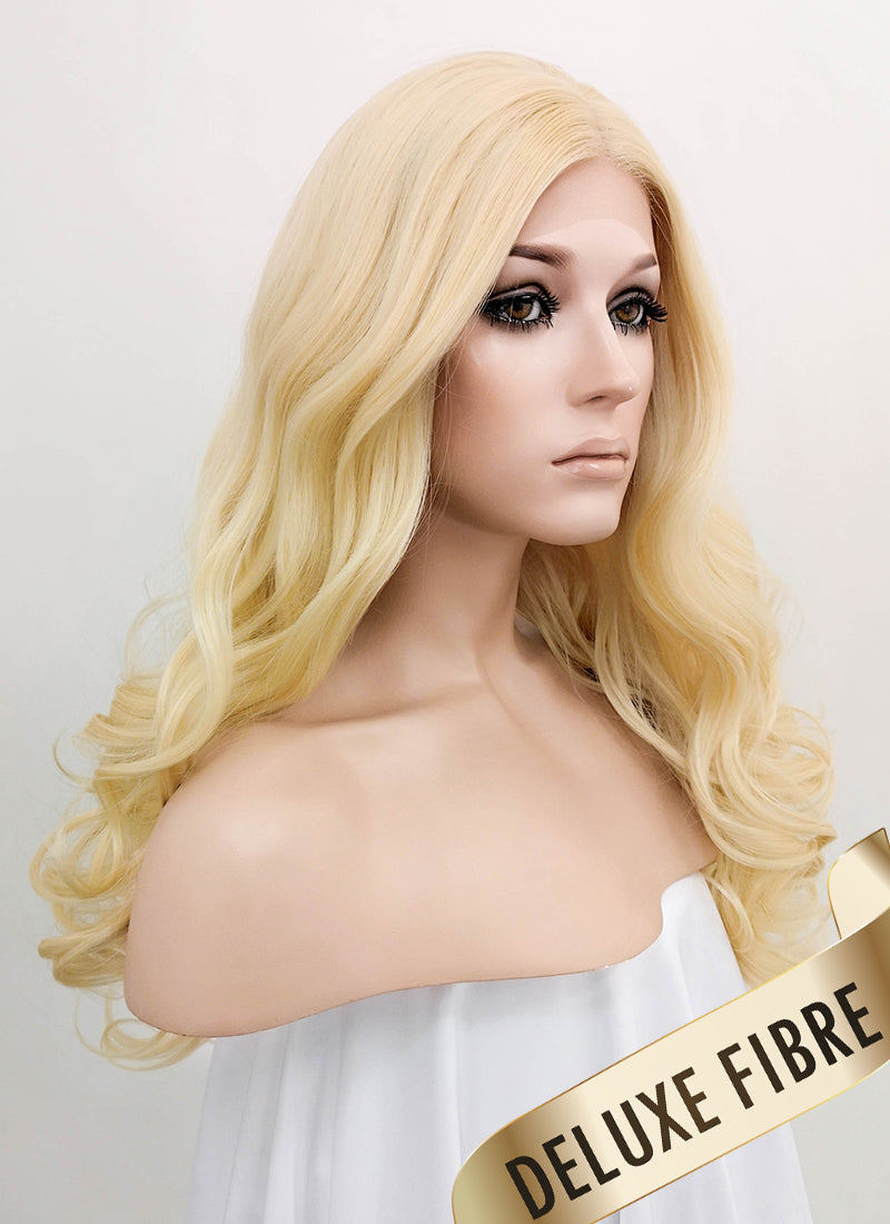Light Blonde Wavy Lace Front Synthetic Wig LNK006 - Wig Is Fashion Australia
