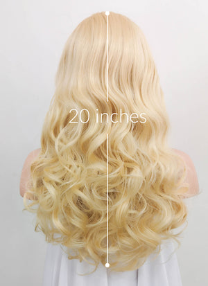 Light Blonde Wavy Lace Front Synthetic Wig LNK006