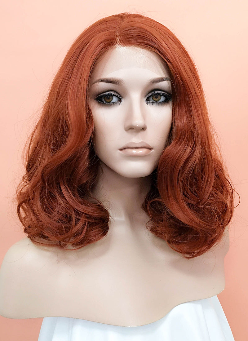 Auburn Wavy Bob Lace Front Synthetic Wig LNK010 - Wig Is Fashion Australia