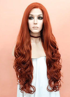 Auburn Wavy Lace Front Synthetic Wig LW085A - Wig Is Fashion Australia
