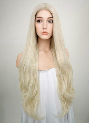 Straight Platinum Blonde Lace Front Synthetic Wig LW150D - Wig Is Fashion Australia