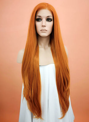 Light Auburn Straight Lace Front Synthetic Wig LW238F - Wig Is Fashion Australia