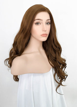 Brown Wavy Lace Front Synthetic Wig LW4002