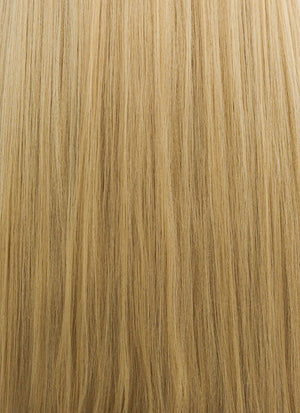 Straight Yaki Blonde Lace Front Synthetic Wig LF701S