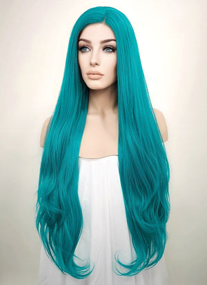 Straight Turquoise Blue Lace Front Synthetic Wig LW714A - Wig Is Fashion Australia