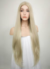 Straight Ash Blonde Lace Front Synthetic Wig LW780 - Wig Is Fashion Australia