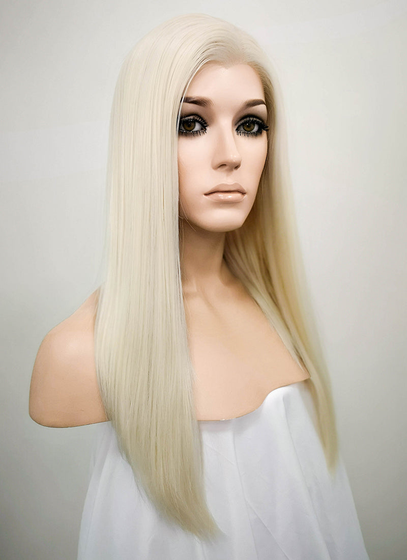 Light Blonde Straight Bob Lace Front Synthetic Wig LW836D - Wig Is Fashion Australia
