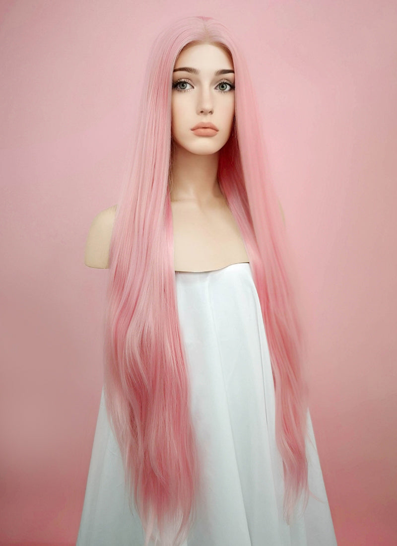 Straight Pink Lace Front Synthetic Wig LW857 - Wig Is Fashion Australia