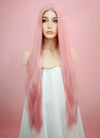 Pastel Pink Straight Lace Front Synthetic Wig LW857 - Wig Is Fashion Australia
