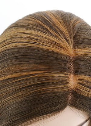 Mixed Brown Mono Parted Glueless Lace Wig MP011 - Wig Is Fashion Australia