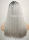 Grey With Dark Roots Mono Parted Glueless Lace Wig MP013 - Wig Is Fashion Australia