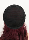 Dark Red With Dark Roots Wavy Bob Synthetic Wig NL009