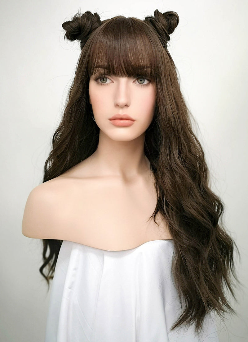 Brunette Wavy Synthetic Wig NS022 - Wig Is Fashion Australia
