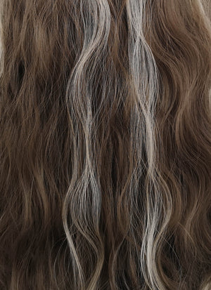 Brunette Mixed Blonde Wavy Synthetic Wig NS034 - Wig Is Fashion Australia