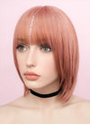 Rose Pink Straight Bob Synthetic Wig NS036 - Wig Is Fashion Australia