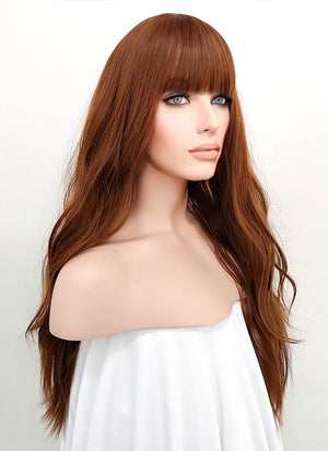 Auburn Wavy Synthetic Wig NS037 - Wig Is Fashion Australia
