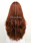 Auburn Wavy Synthetic Wig NS037