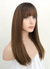 Chestnut Brown With Dark Roots Straight Synthetic Wig NS050 - Wig Is Fashion Australia