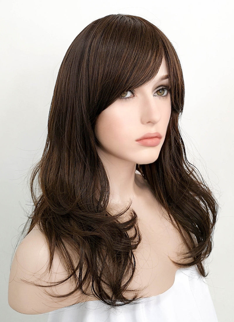 Brunette Wavy Synthetic Wig NS059 - Wig Is Fashion Australia