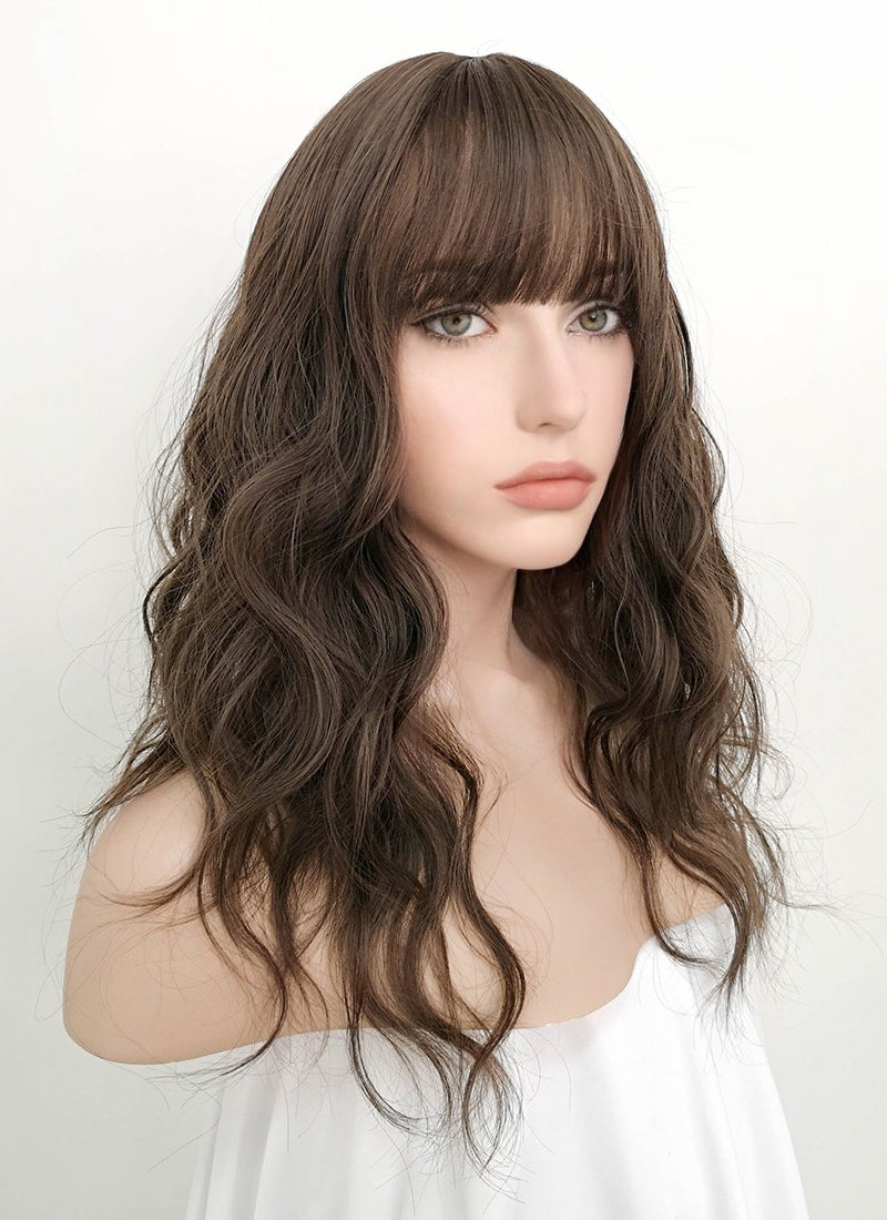 Brunette Wavy Synthetic Wig NS065 - Wig Is Fashion Australia