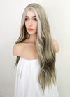 Mixed Grey Wavy Synthetic Wig NS131
