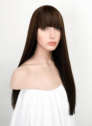 Brunette Straight Synthetic Wig NS163