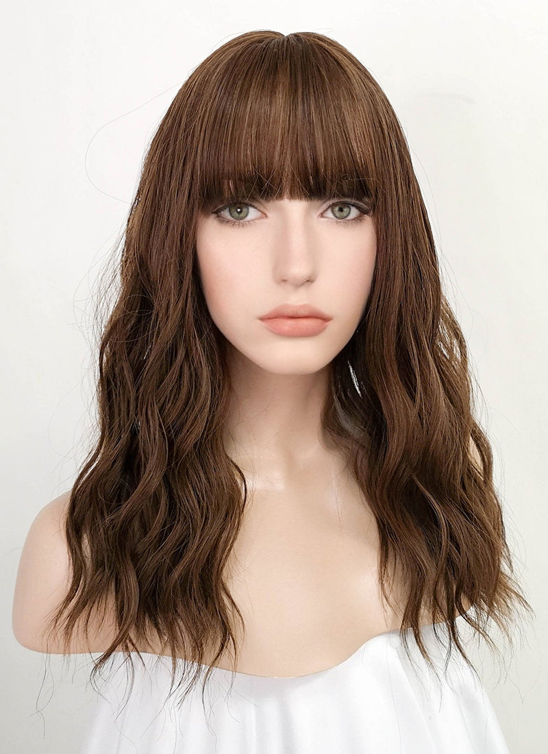 Brown Wavy Synthetic Wig NS173