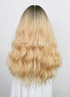 Light Blonde With Dark Roots Wavy Synthetic Wig NS177