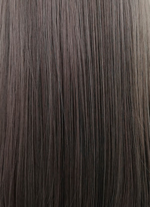 Ash Pinkish Grey Straight Synthetic Wig NS193