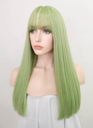 Light Green Straight Synthetic Wig NS226