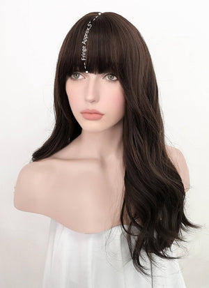Brunette Wavy Synthetic Wig NS245