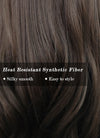 Brunette Wavy Synthetic Wig NS246
