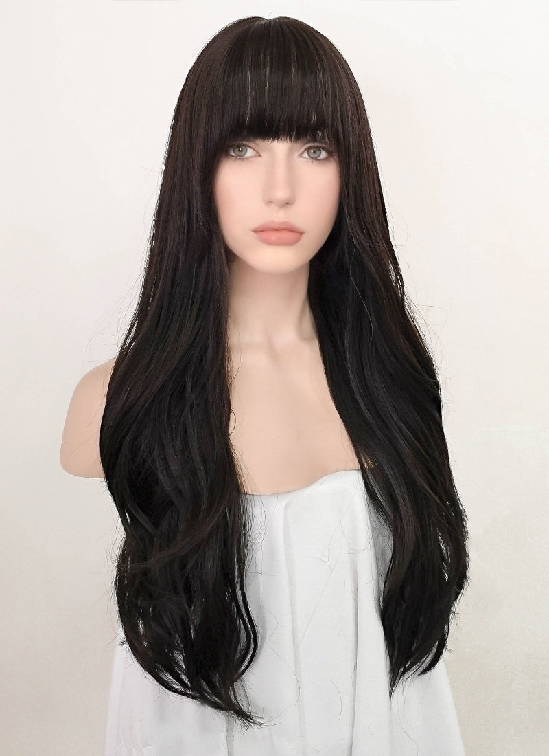 Brunette Wavy Synthetic Wig NS249