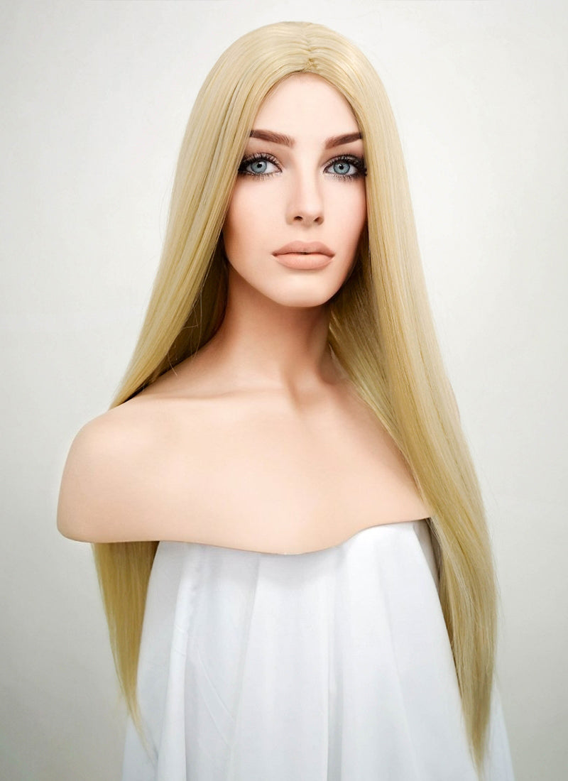 Straight Mixed Blonde Synthetic Wig NW007 - Wig Is Fashion Australia
