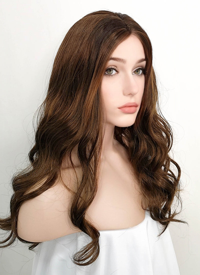 Brunette Wavy Synthetic Wig NW066 - Wig Is Fashion Australia
