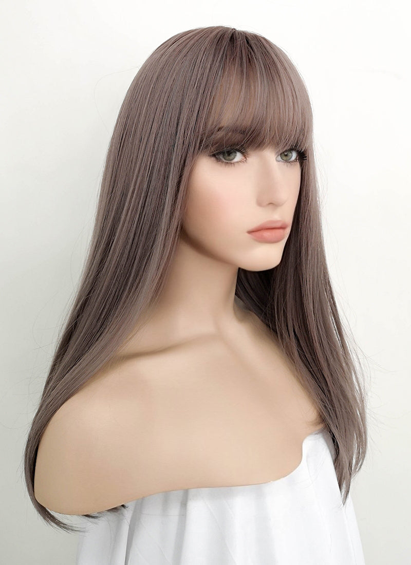 Ash Pinkish Grey Wavy Synthetic Wig PN010 - Wig Is Fashion Australia