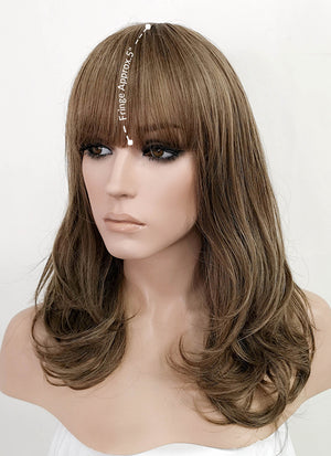 Mixed Brown Wavy Bob Synthetic Wig PN011