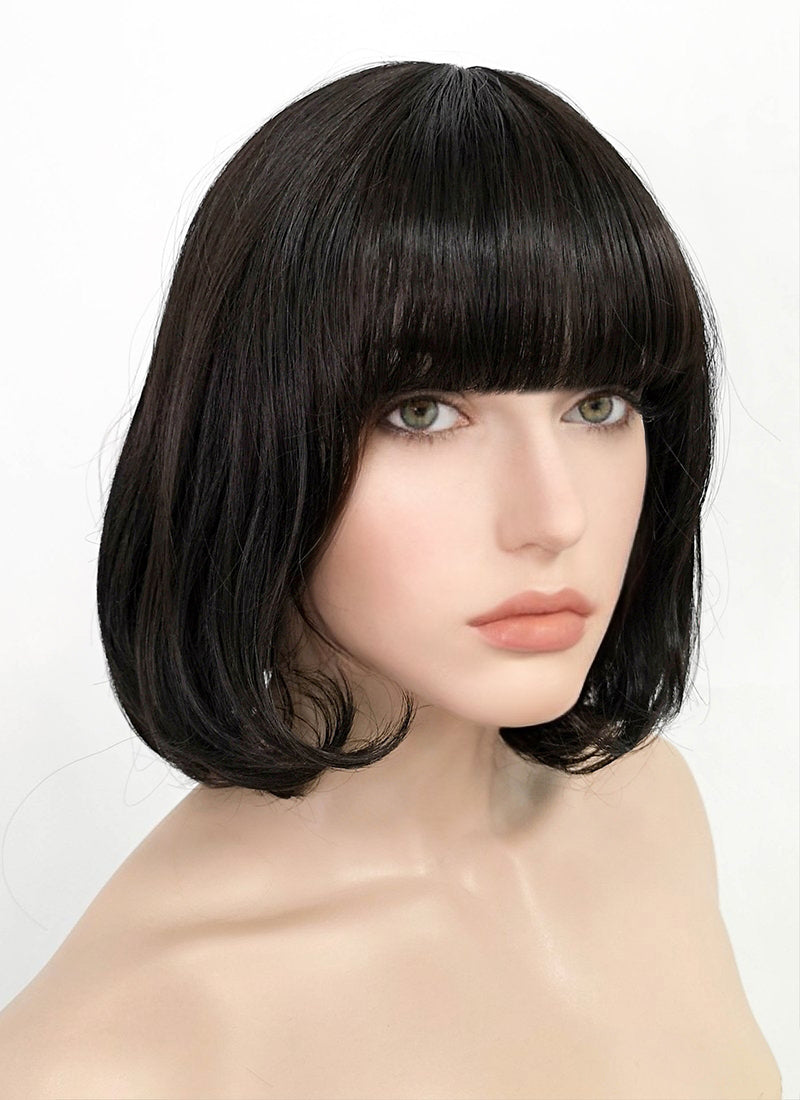 Black Straight Bob Synthetic Wig PN015