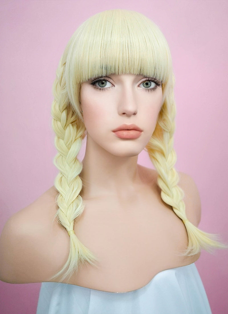 Light Blonde Straight Synthetic Wig TH002 - Wig Is Fashion Australia
