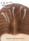 Light Auburn Yellow Blonde Ombre Wavy Lace Front Synthetic Wig LF085H - Wig Is Fashion Australia